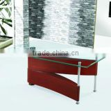 MDF with painting legs /tempered glass tea table/coffee table A-072
