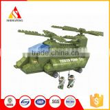 High quality kids funny bricks toy army plane education building block