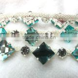 Hot seller new design sew on bridal rhinestone metal cup chain                                                                         Quality Choice