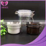 Most popular 1200ml Cosmetic Plastic PET Kilner Jar, facial mask jar bath salt jar