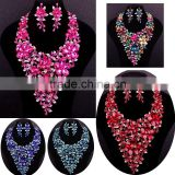 2016 New arrival costume & fashion jewelry for Aso ebi party/High end fashion jewelry necklace wholesale