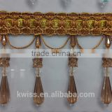brown fabric trims wholesale beads fringe