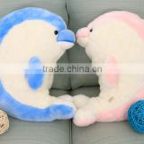 goodtime cartoon animal style 45 cm pink and blue dolphin lovers plush toy doll sleeping pillow