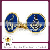 Fashion Christians Freemasonry Jewelry Gold Stainless Steel Blue Enamel Masonic Cufflinks for Men Shirt Wholesale In Alibaba