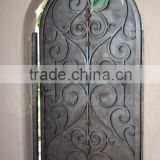 2016 single iron gate made with beautiful scroll works and open by swing.