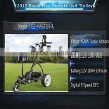 2015 NEW Remote Control Golf Trolley With 400W Turbo Motors . Digital Handle 9 speed .Distance for 10m.20m.30m. FREE USB Port