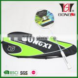 GX-6012 WHITE hot sale aluminium&steel brand badminton rackets with carrybag and good overgrips