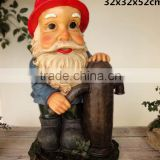 Large garden dwarf sensor statues decorative