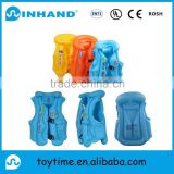 customised sports pvc inflatable baby swim vest, inflatable water kids life-saving jacket