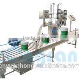 Oil Paint weighing and bottling line filling machine