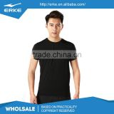 ERKE factory dropshipping wholesale brand plain color mens polyester sport short sleeve t shirt