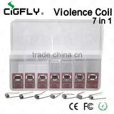 Hot selling 7 in 1 demon killer violence coil high quality demon killer Staple Staggered fused clapton c coil in stock