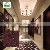 Nano full polished porcelain glazed red marble floor tile for wedding bedroom furniture design from foshan nanhai