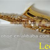Woodwind musical instrument gold lacquer brass Eb alto saxophone--331G