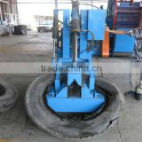Used tire cutter for tire sidewall