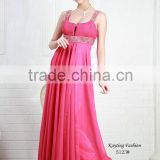 Gorgeous Beaded Spaghetti Strap Ruffle Western Gowns Party Dresses