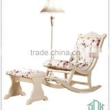 White Wooden Rocking Chair HB-A# Antique Rocking Chair Prices Wood Rocking Chair