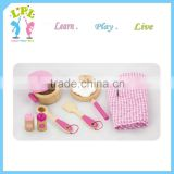 Nursery school furniture type children toy role play wood kitchen set