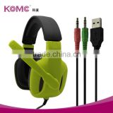 Lightweight Professional Gaming Headset Over Ear Headband Headphones with Microphone Volume Control for PC Laptop Phone