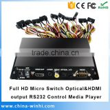 High quality Micro Switch Optical HDMI output RS232 Control 1080P HDD Multimedia Player Full HD Media Player