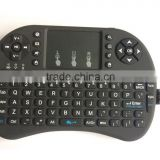 Mini Wireless Keyboard 2.4ghz English Air Mouse Keyboard Touchpad Remote Control For Android TV Box Notebook Tablet PC