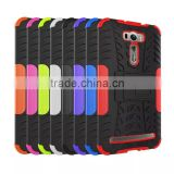 For Asus Zenfone 2 LASER ZE601KL Case Armor Heavy Duty Hybrid Rugged TPU Impact Kickstand Hard Cover ShockProof