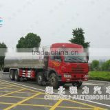 25000L milk transport vehicle factory,cheap stainless steel water milk transport tank truck