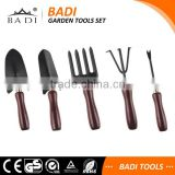 hot sale garden tools mini set with brown wooden handle