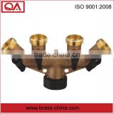 brass hose faucet manifold for watering& irrigation