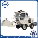 Low price HWJB200 mobile self loading concrete mini mixer truck