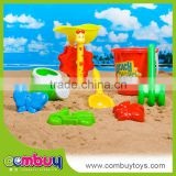 New product kids outdoor plastic sand beach windmill toy (8 pcs)