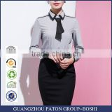 Women summer business suit blouse Summer Hotel Sales airline stewardess uniforms overalls short sleeved dress custom