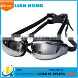 Waterproof, anti fog goggles and HD big box electroplating myopia swimming glasses