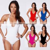 2017 new design Women Sexy Backless Bikini Swimsuit with factory price From Guangzhou China