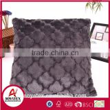 Lantern design brushed PV fleece pillow, solid fake fur pillow, fashable pillow for US market