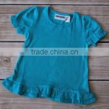 Fast Ship New Clothing Brand Kids Girls Solid Cotton Short Sleeve T-shirt childrens summer wear blank t-shirt