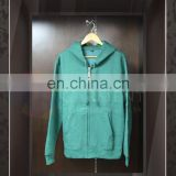 Wholesale High Quality Logo Printing unisex Forest Green zip up