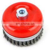 SAR RED WEISTED WIRE WHEEL BRUSH