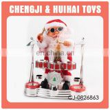 Battery operated Santa Claus playing drum christmas doll