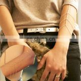 Women Gold Armband Bracelet Arm Slave Harness Tassel Chain Upper Cuff Armlet