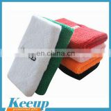 Customized logo promotional terry cloth sports arm sweatbands