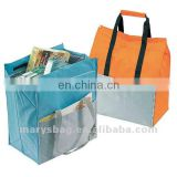 tear proof 70D nylon heavy duty shopping bag with insulated front pocket