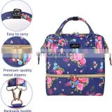 Floral Lunch Bags cooler for Women Insulated Backpack for Girls Lunch Box