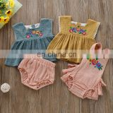 Sister Matching Clothes Kids Baby Girls Sleeveless Lace-up Romper Jumpsuit Dress Outfit Clothes