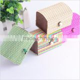 Vintage Novelty Square-shaped Bamboo Curtain Style Sundries Box Jewelry Box Decoration Box