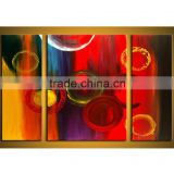 JC Wholesale 3 Pieces Abstract Wall Art Living Room Handmade Oil Painting Picture On Canvas HP-24
