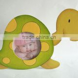 Tortoise photo frame, kids cartoon frame, wooden baby photo frame, 18x11cm picture frame