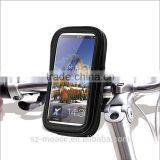 China Manufacturing Bicycle Holder Waterproof phone Bag for iphone and samsung, with 360 degree rotating and adjustment