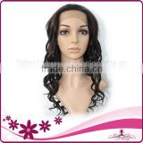 wendy product 100% handmade natural color deep wave thair lace front human hair wigs white women