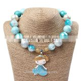 kids christmas gift jewelry children girls chunky bubble gum necklace high quality materials diy necklace
